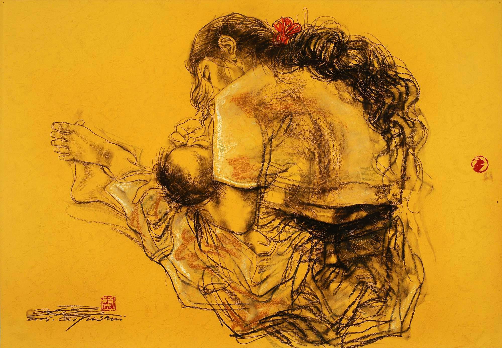 商业空间母子手绘图